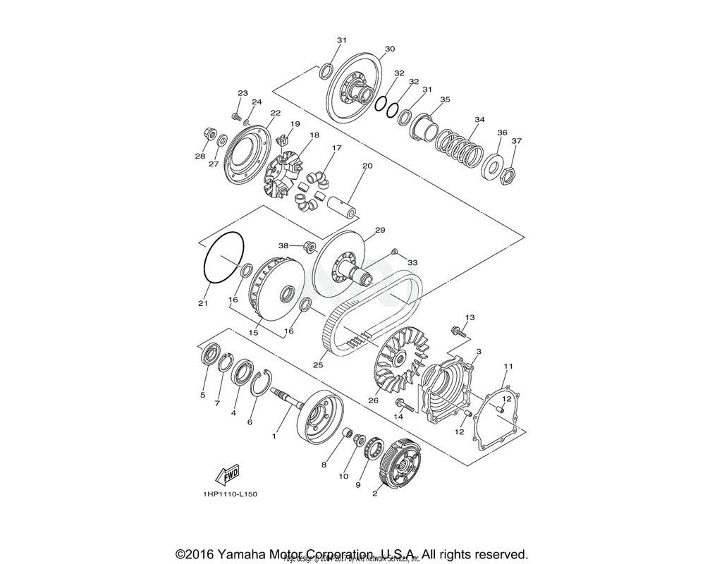 Yamaha OEM 28P-17641-00-00 V-BELT