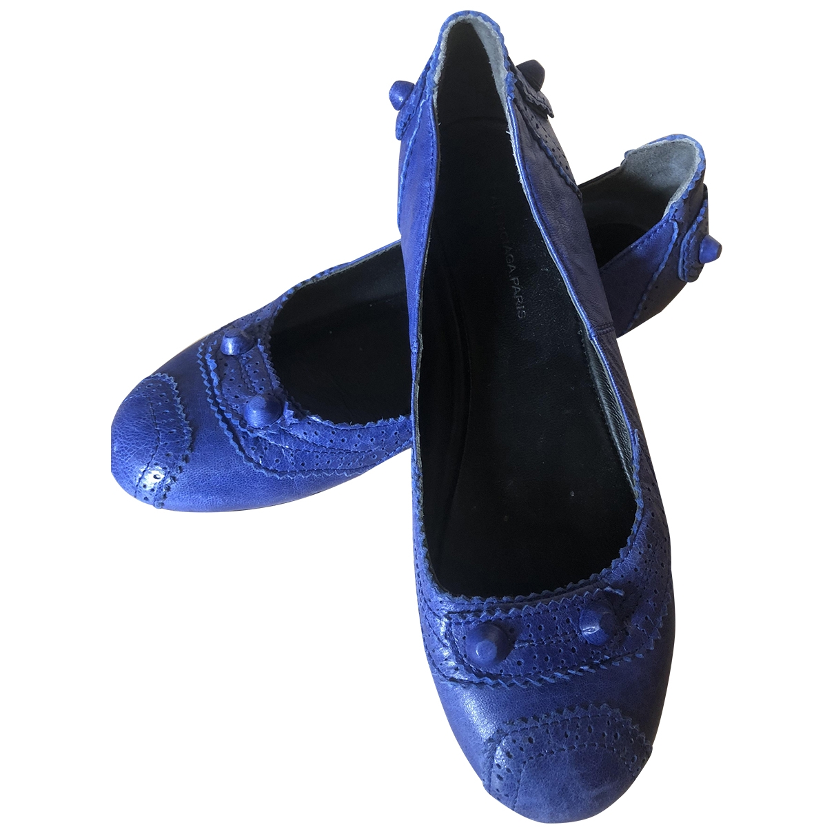 Balenciaga \N Blue Leather Ballet flats for Women 5 UK