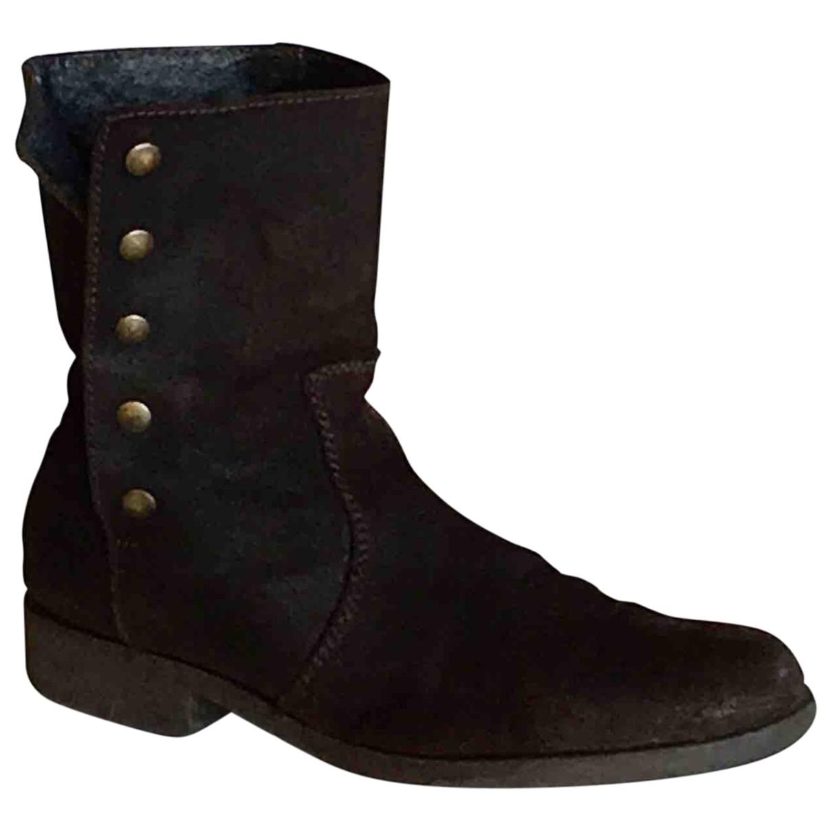 Agnès B. \N Brown Suede Boots for Women 41 EU