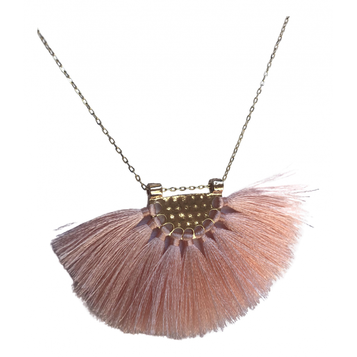 Non Signé / Unsigned \N Pink Metal necklace for Women \N