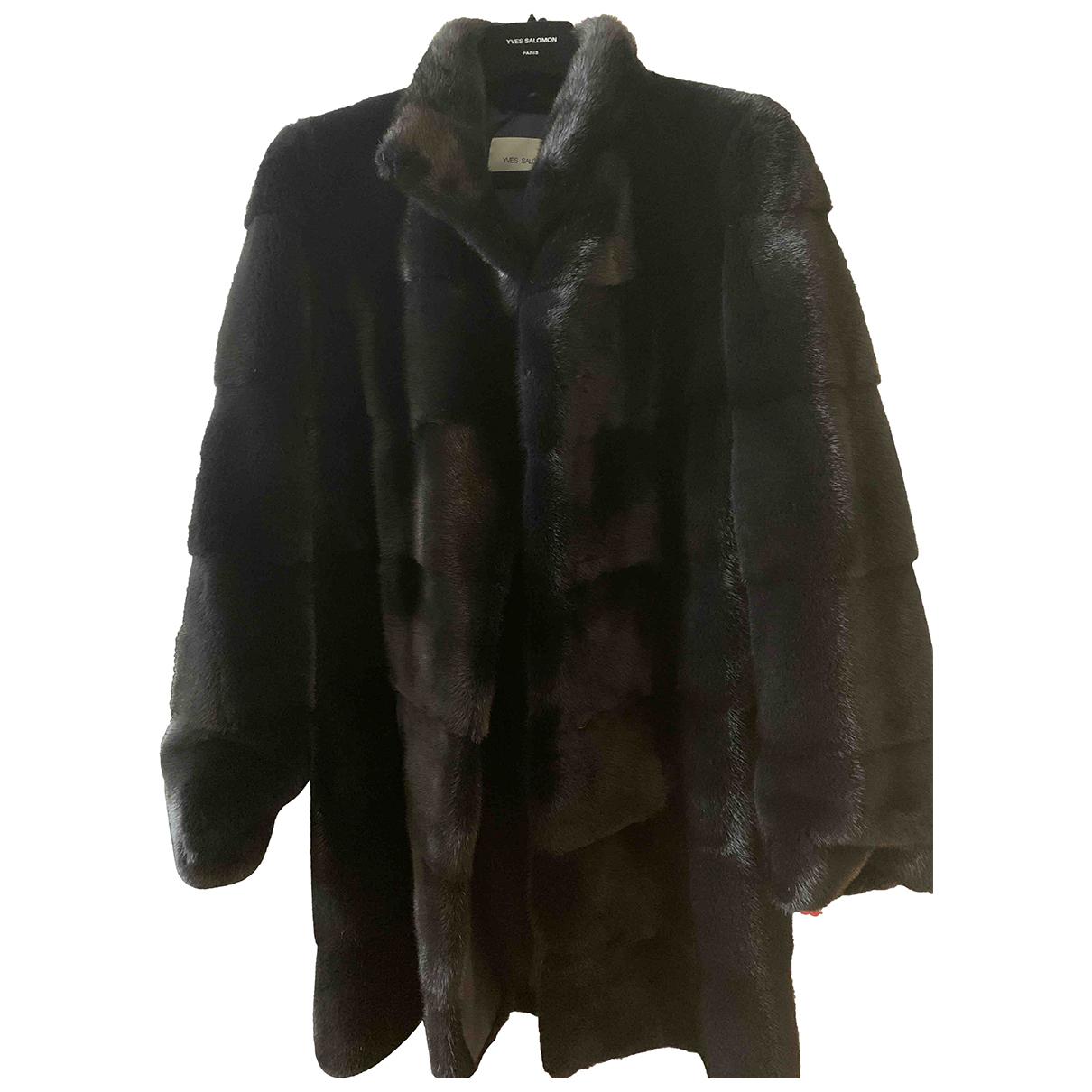 Yves Salomon \N Black Mink coat for Women 36 FR