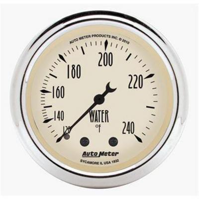 Auto Meter Antique Beige Mechanical Water Temperature Gauge - 1832