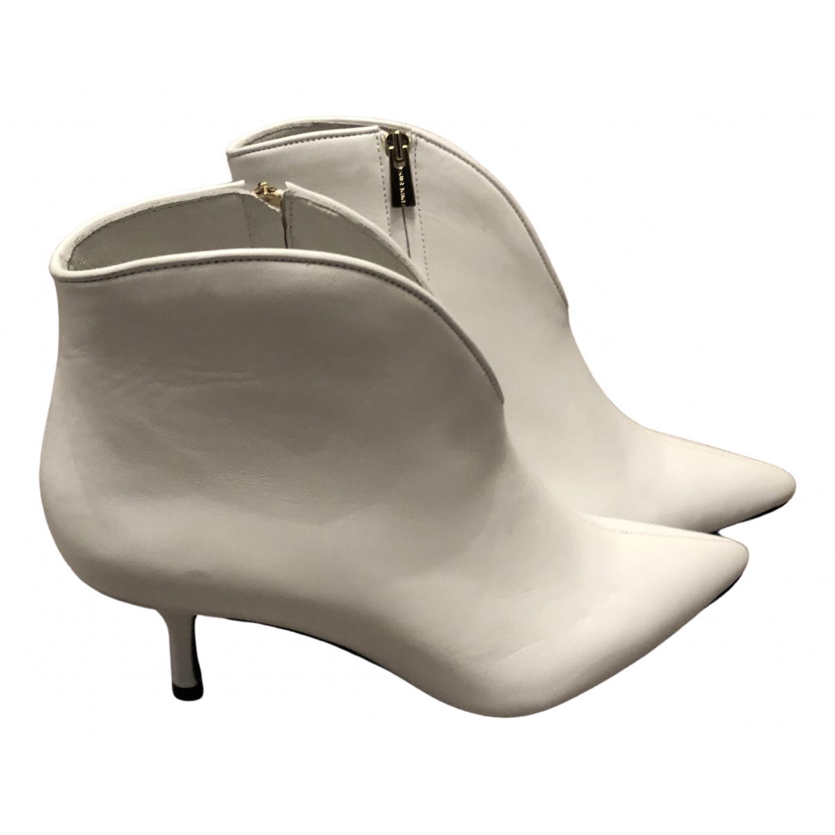 Anine Bing \N White Leather Ankle boots for Women 39 EU