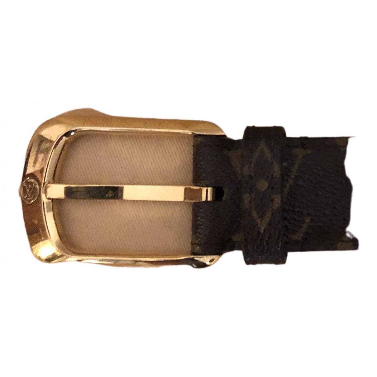 Louis Vuitton \N Brown Cloth belt for Women S International