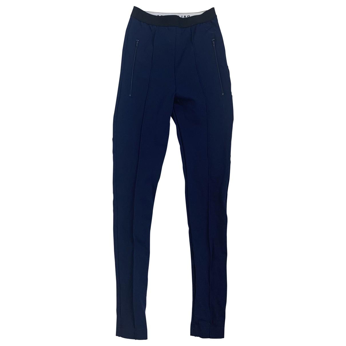 Balenciaga \N Blue Cotton Trousers for Women 36 FR
