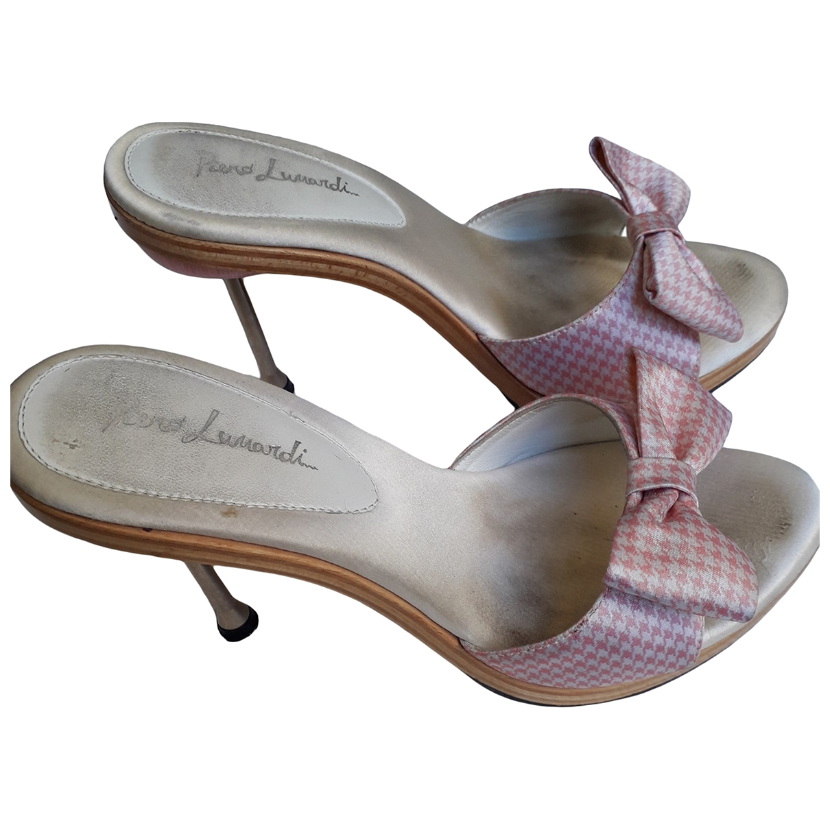 Non Signé / Unsigned \N Pink Cloth Mules & Clogs for Women 36 EU