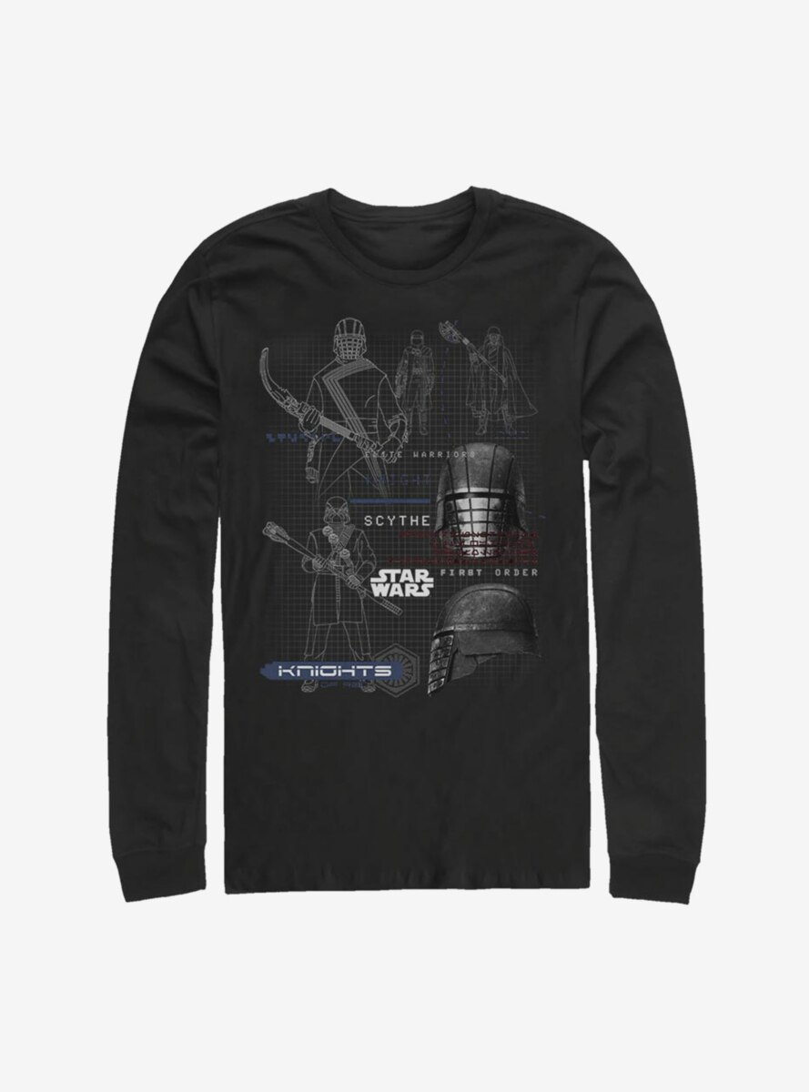 Star Wars Episode IX The Rise Of Skywalker Kylo Ren Maps Long-Sleeve T-Shirt