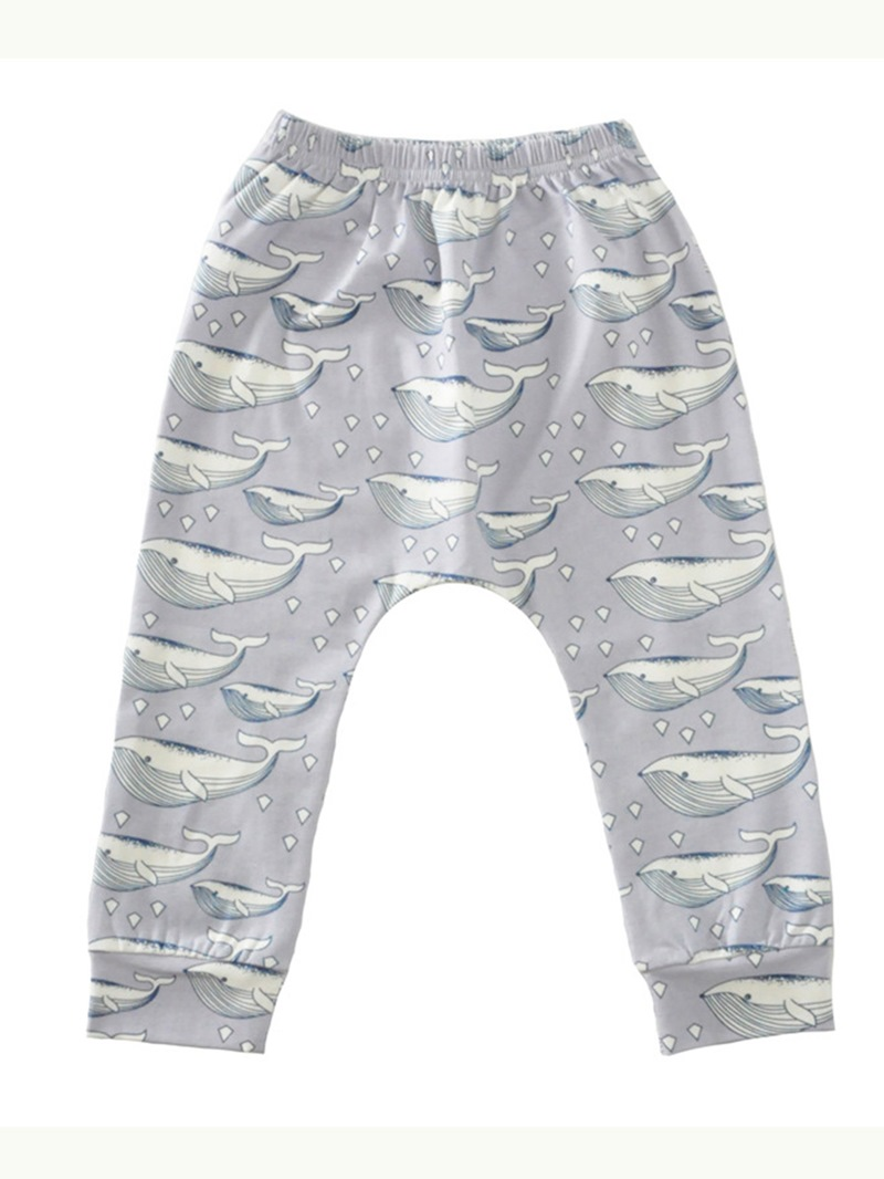 Ericdress Unisex Funny Cartoon Print Comfortable Baby Boys And Girls Pant