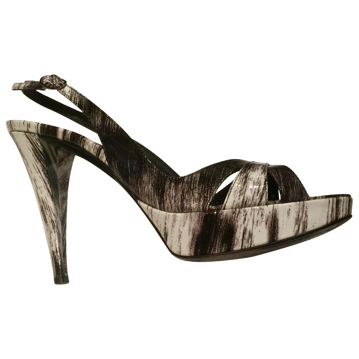 Sergio Rossi \N Multicolour Patent leather Sandals for Women 39.5 EU