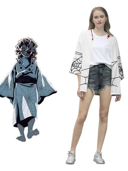 Milanoo Demon Slayer Kimetsu No Yaiba Rui Kimono Only Anime Cosplay Costume