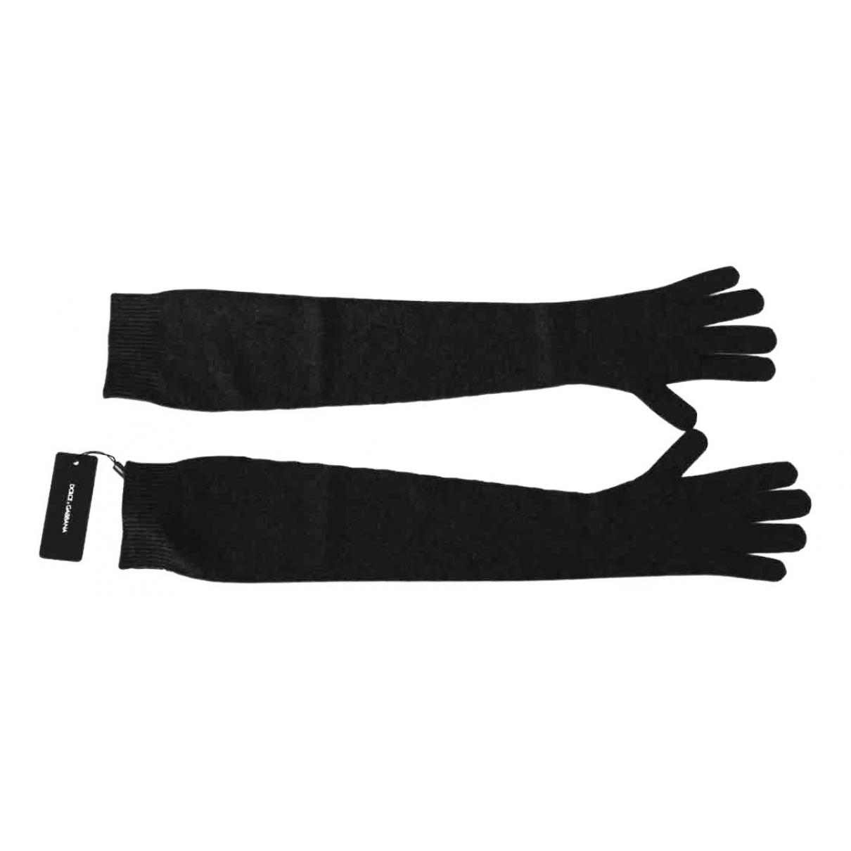 Dolce & Gabbana \N Black Cashmere Gloves for Women M International