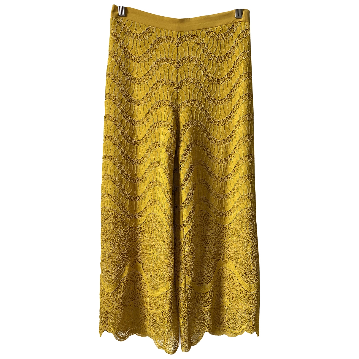 Twin Set \N Yellow Trousers for Women 38 FR