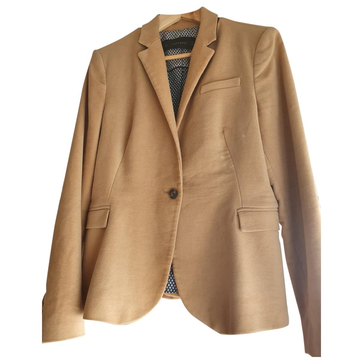 Zara \N Brown Velvet coat for Women L International