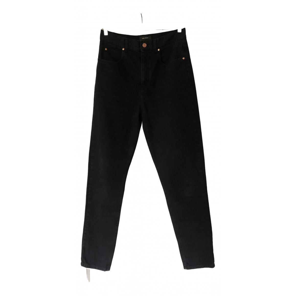 Isabel Marant \N Black Cotton Jeans for Women 40 FR