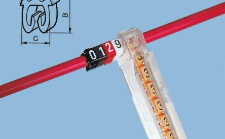 Legrand Clip On Cable Marker, Pre-printed 3 Orange 2.2 → 3mm Dia. Range