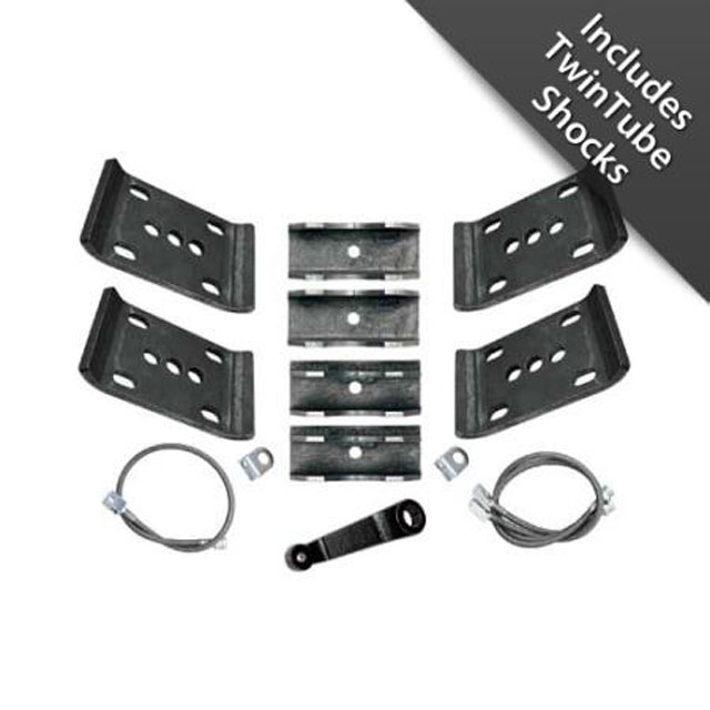 YJ Spring Over Conversion Lift Kit 5.5 Inch W/Twin Tube Shocks 87-95 Wrangler YJ Rubicon Express RE5015T