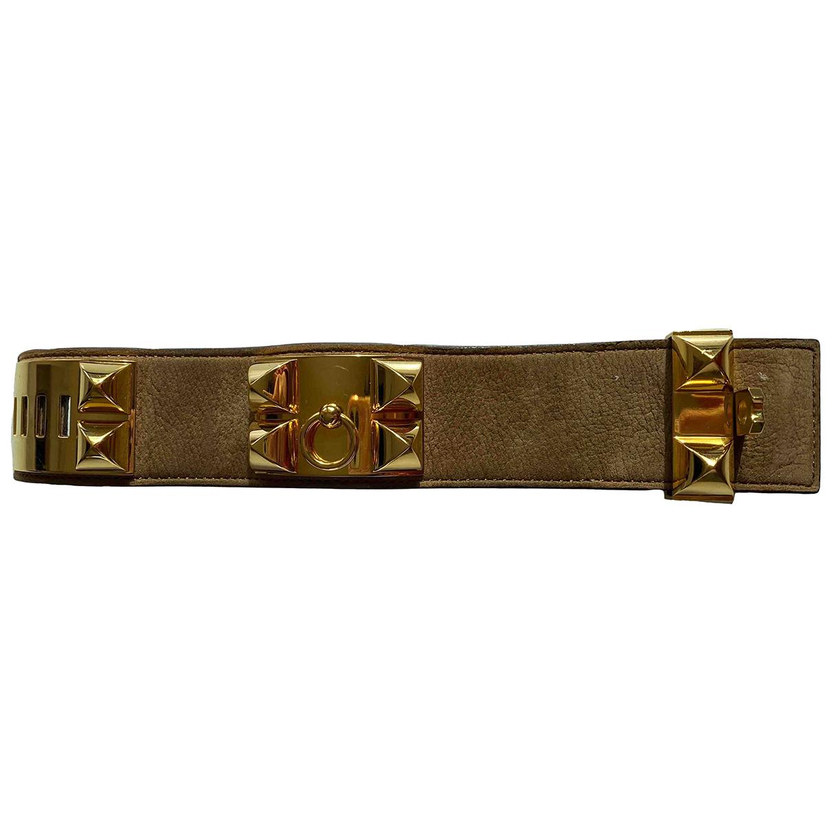 Hermès Collier de chien  Brown Leather bracelet for Women \N