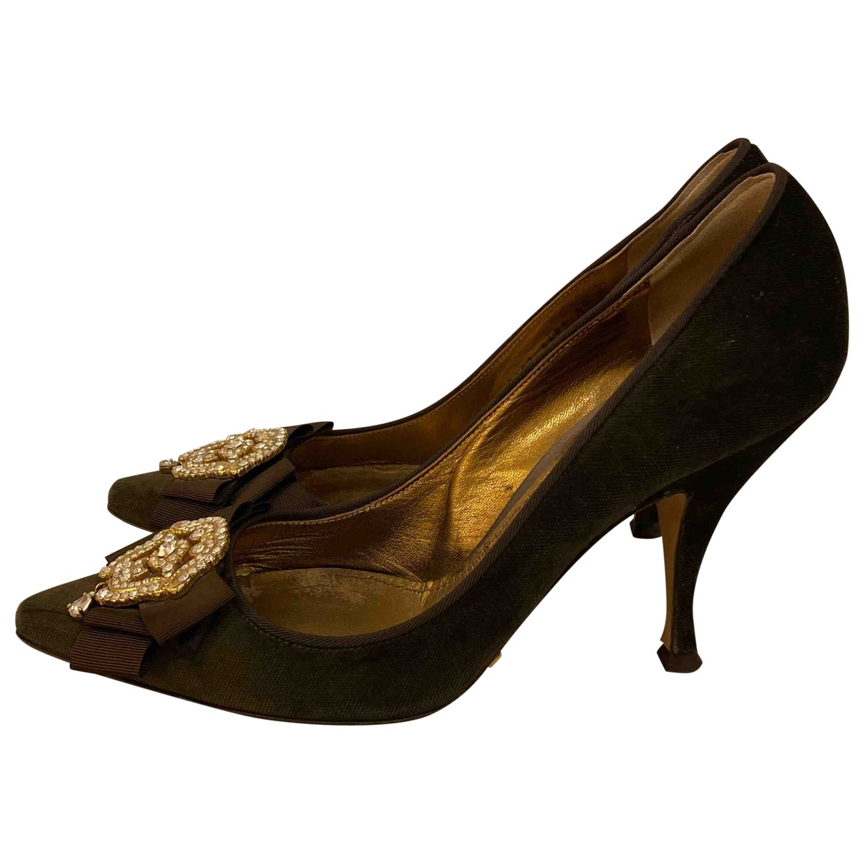 Dolce & Gabbana \N Brown Velvet Heels for Women 40 EU