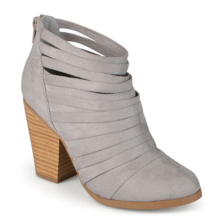 Journee Collection Womens Selena Strappy Ankle Booties, 8 Medium, Gray