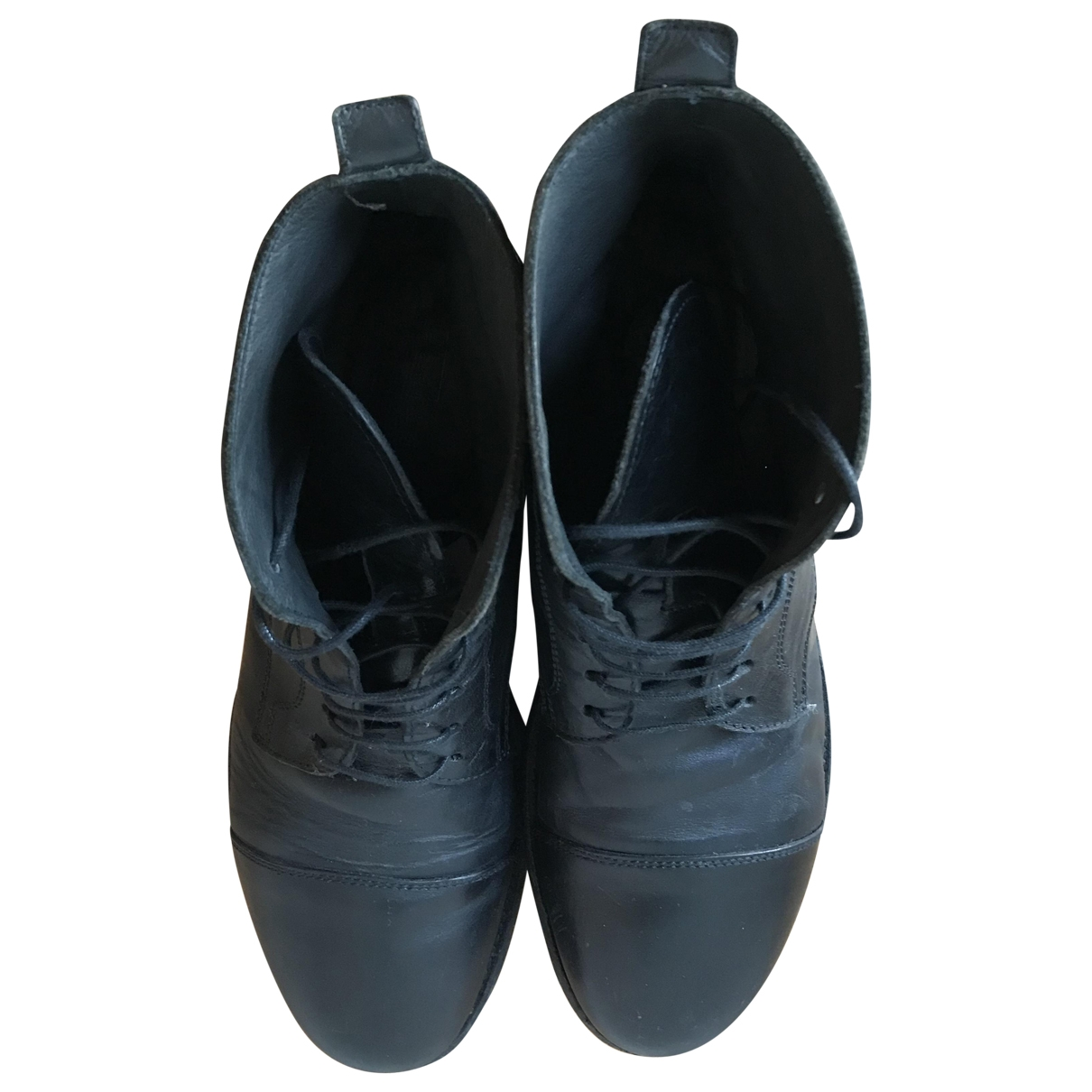 Moma \N Black Leather Ankle boots for Women 41 EU