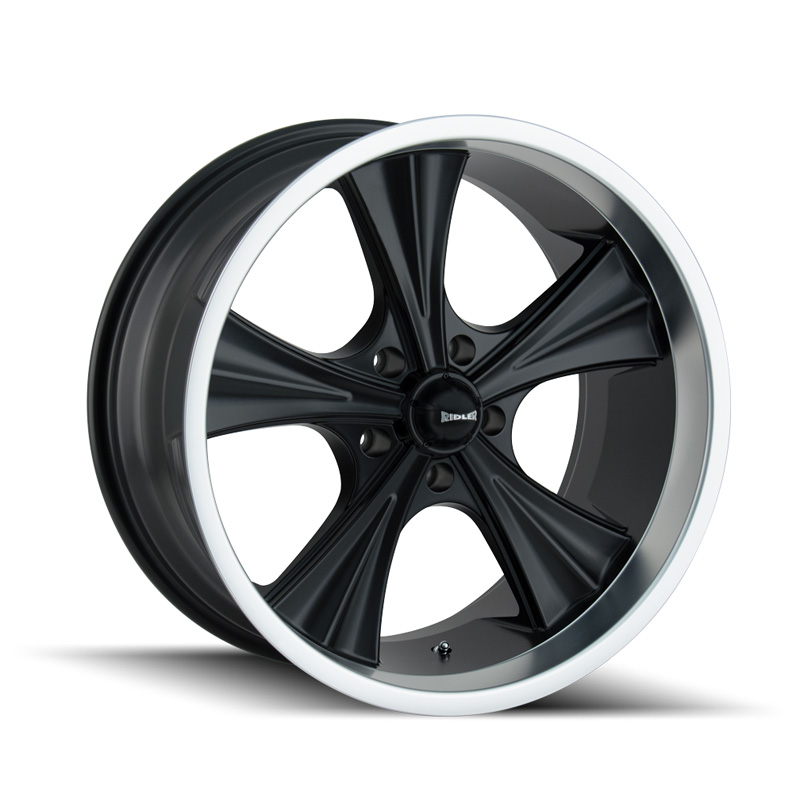 Ridler 651 Matte Black | Machined Lip 20x10 5x120.65 0mm 83.82mm Wheel