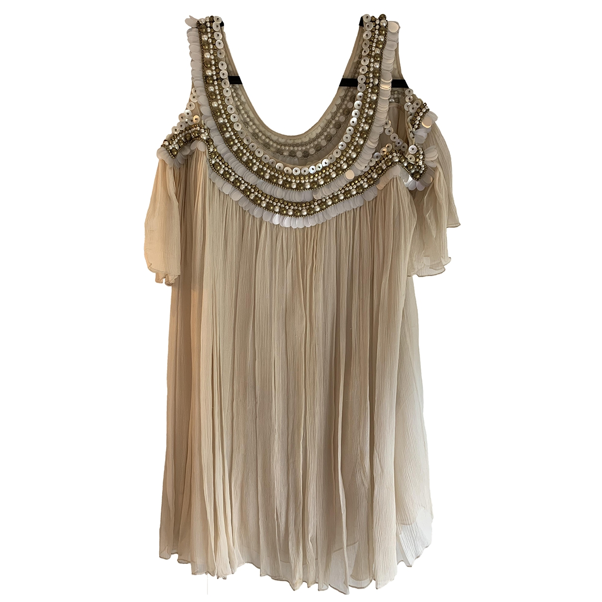 Temperley London \N Beige Silk dress for Women 14 UK