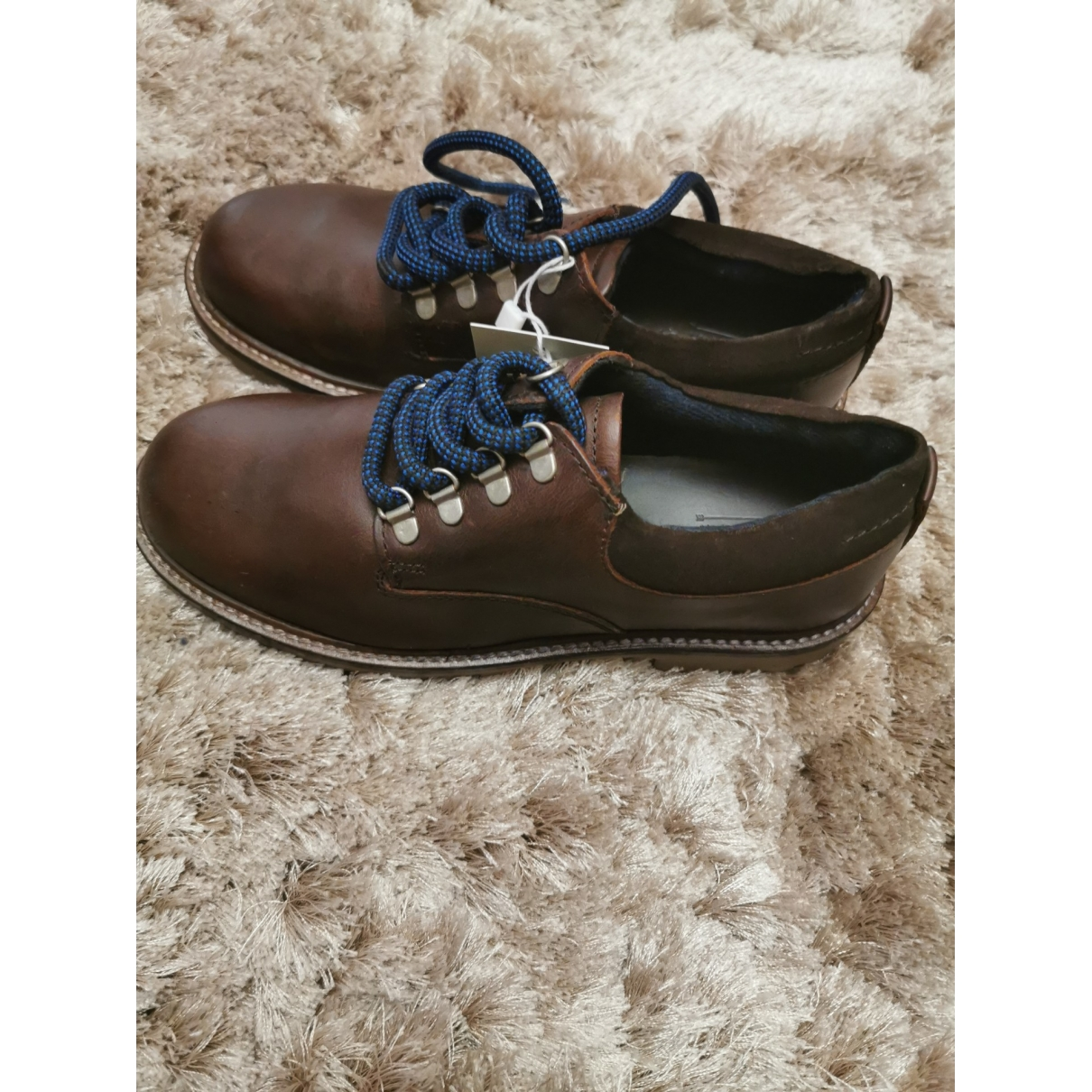 Zara \N Brown Leather Lace up boots for Kids 34 EU