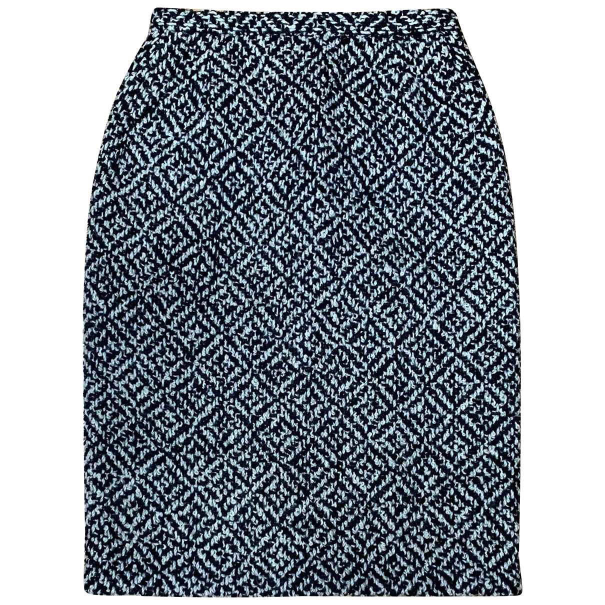 Non Signé / Unsigned \N Black Tweed skirt for Women 40 IT