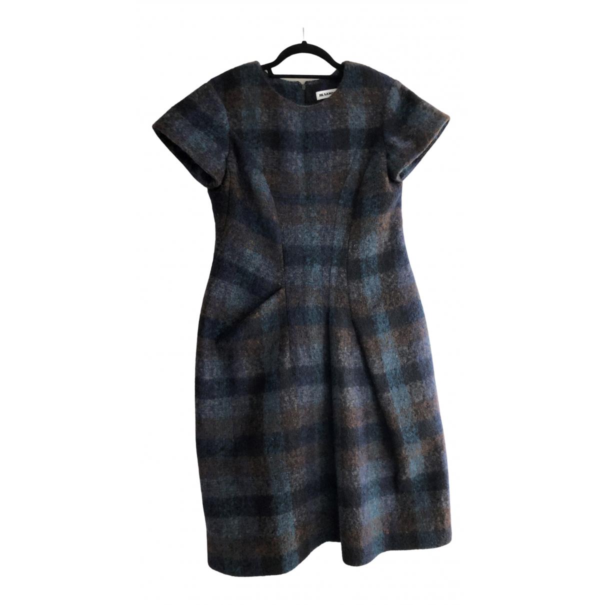 Jil Sander \N Blue Wool dress for Women 38 IT
