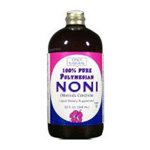 Noni 100% Pure Standardized LIQUID, 32 OZ by Only Natural