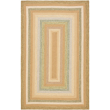 Safavieh Lactrice Bordered Braided Rug, One Size , Brown