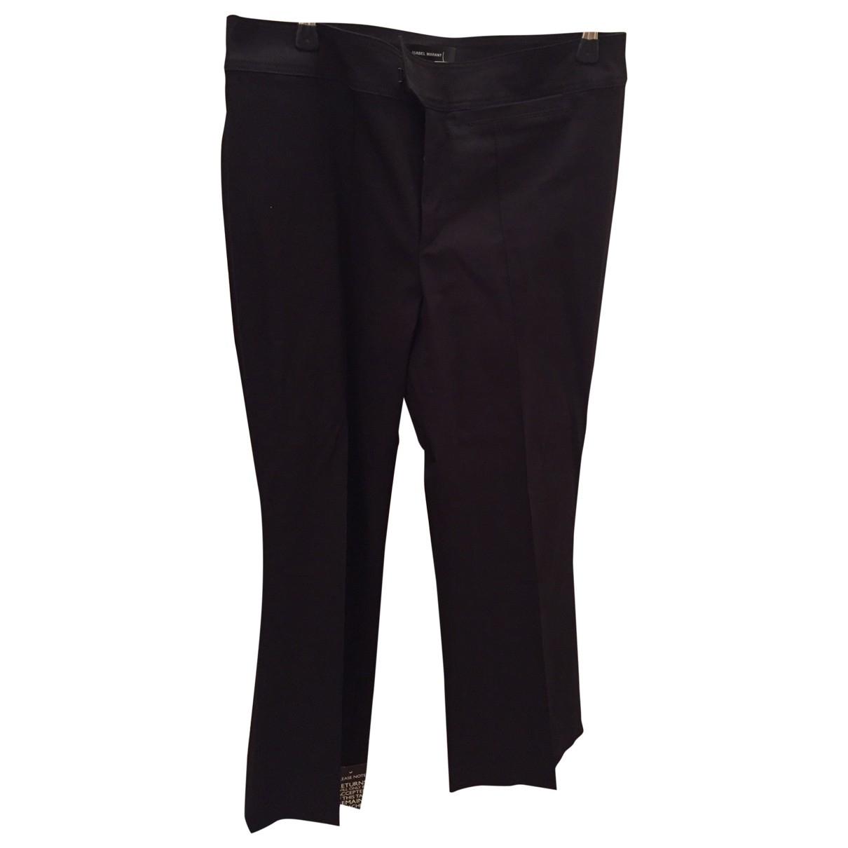 Isabel Marant \N Black Cotton Trousers for Women 40 FR