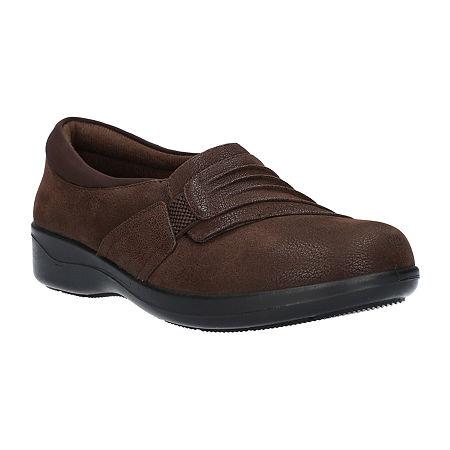 Easy Street Womens Folk Slip-On Shoe, 11 Medium, Brown