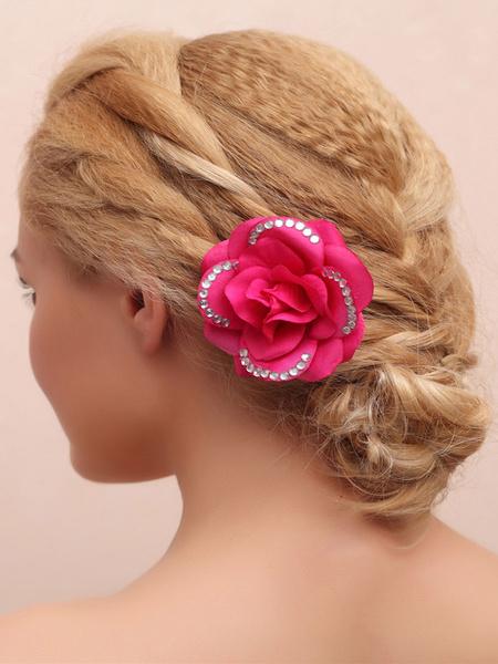 Milanoo Headpieces Wedding Silk Flower Hair Accessories For Bride