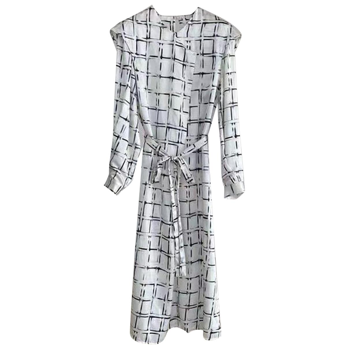 Jil Sander \N White Silk dress for Women 38 FR