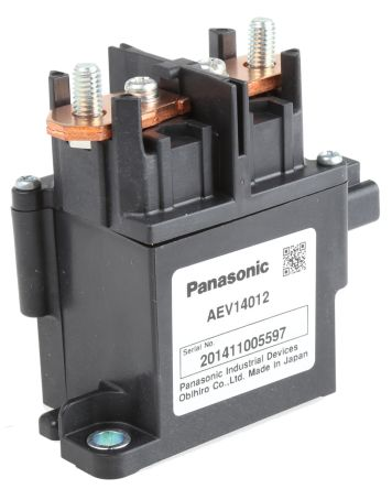 Panasonic , 12V dc Coil Automotive Relay SPNO, 120A Switching Current Flange Mount