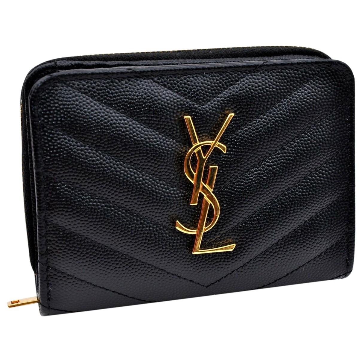 Yves Saint Laurent \N Black Leather wallet for Women \N