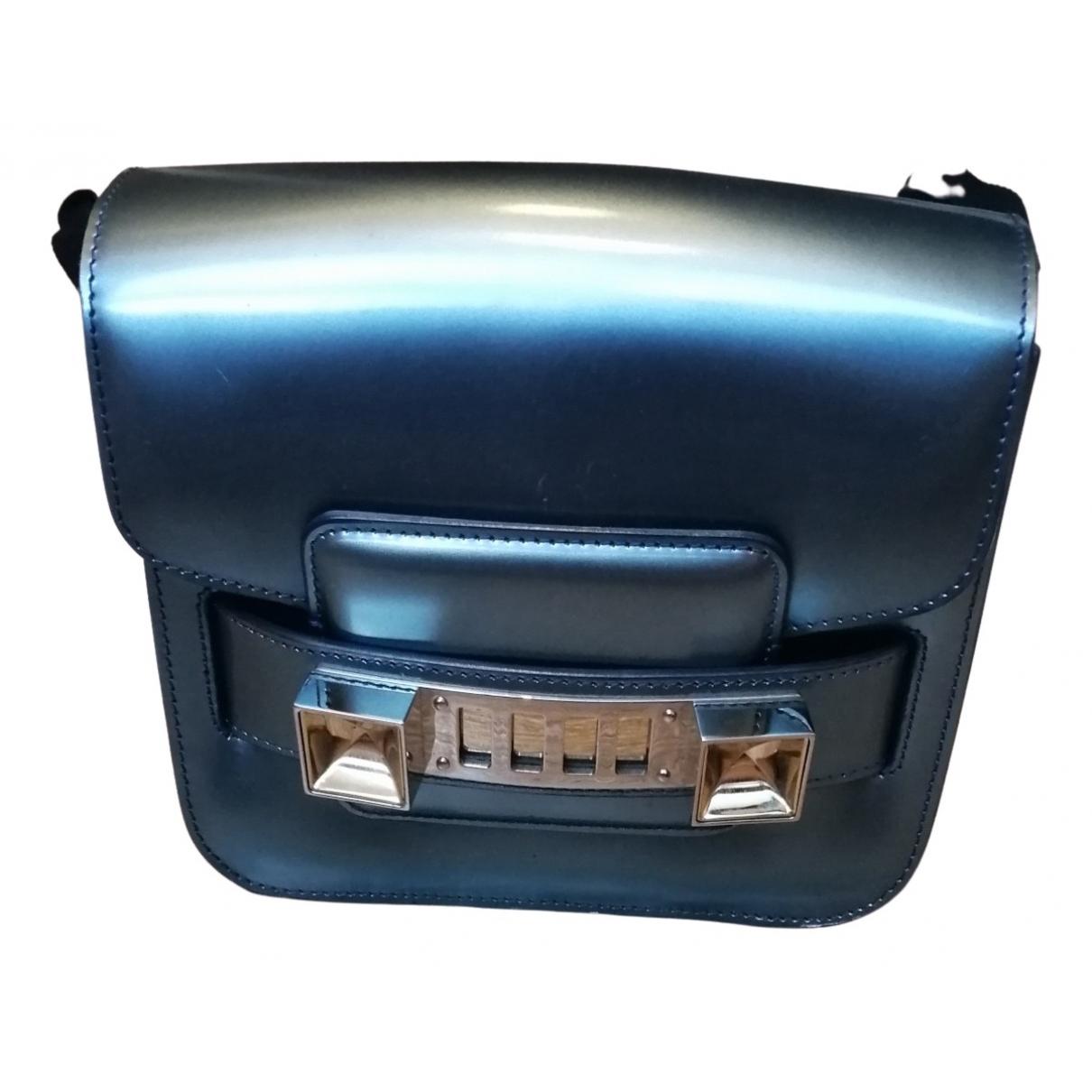 Proenza Schouler PS11 Handtasche in  Metallic Lackleder