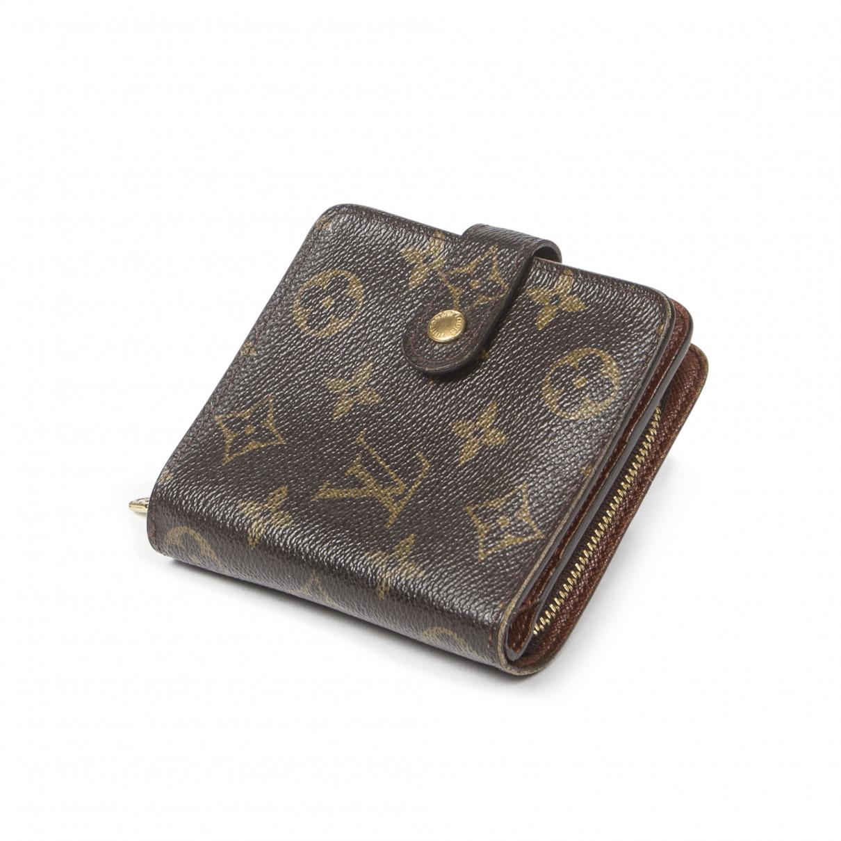 Louis Vuitton \N Brown Cotton wallet for Women \N