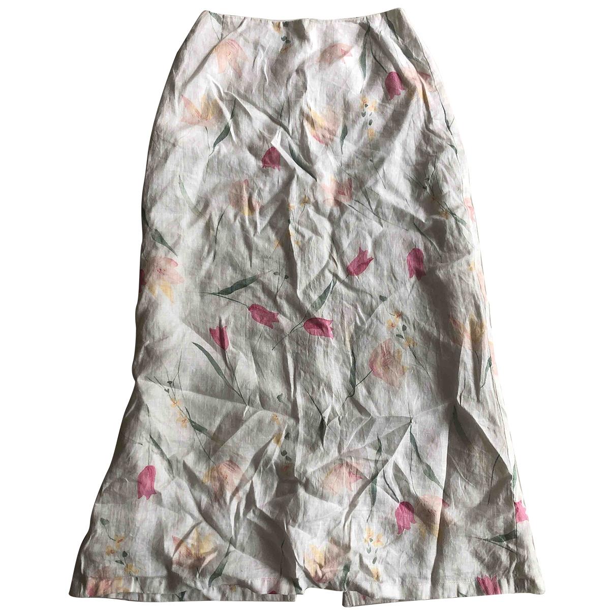 Gerard Darel \N White Linen skirt for Women 34 FR