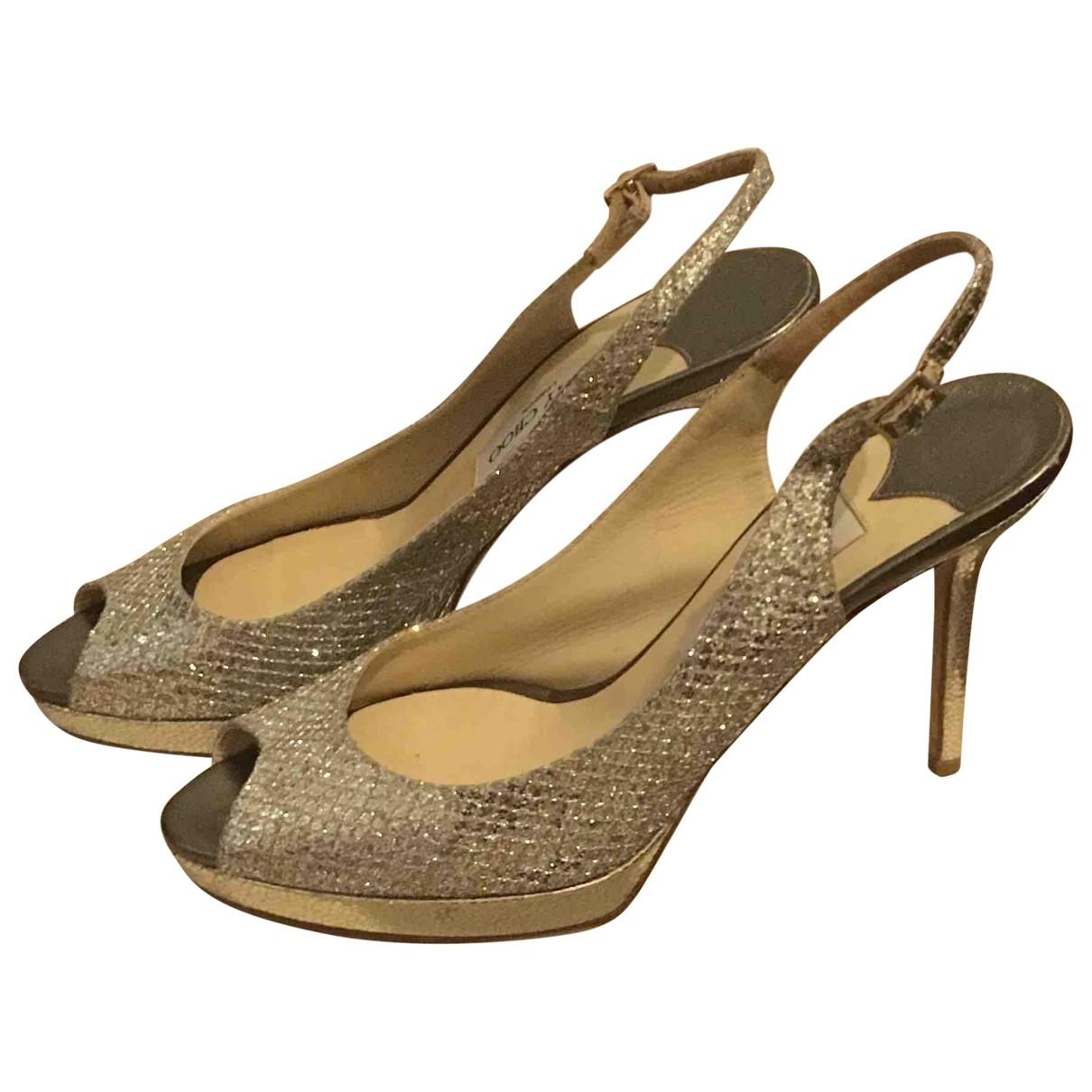 Jimmy Choo \N Silver Water snake Heels for Women 40.5 EU