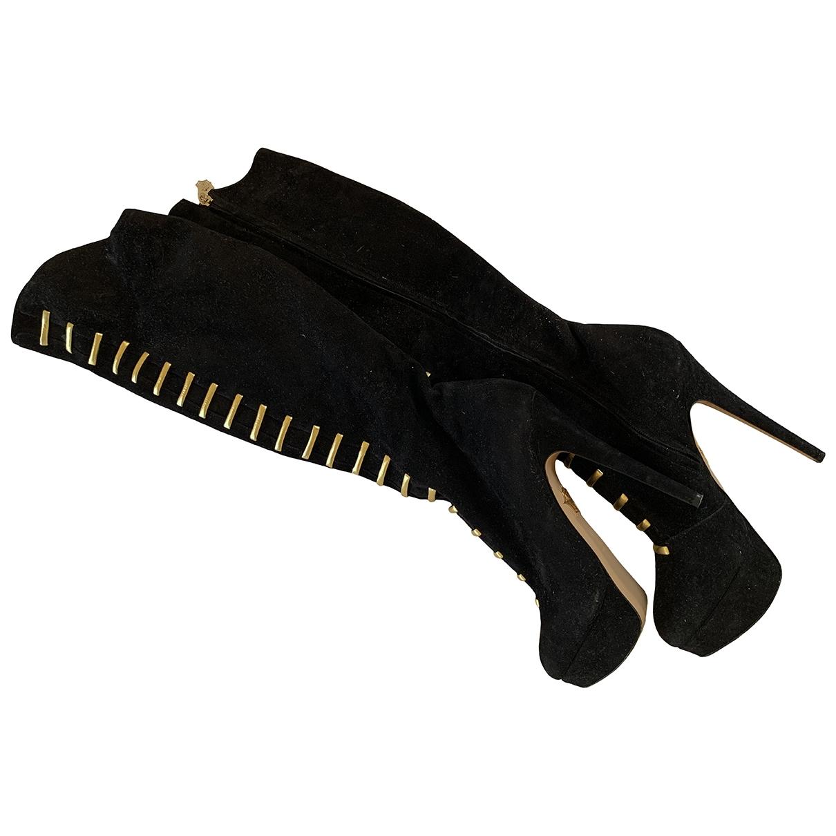 Sophia Webster \N Black Suede Boots for Women 39 EU