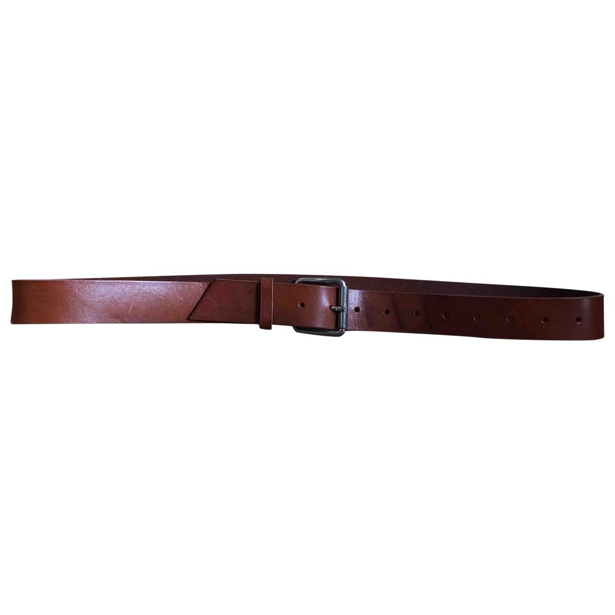 Comme Des Garcons \N Brown Leather belt for Men 100 cm