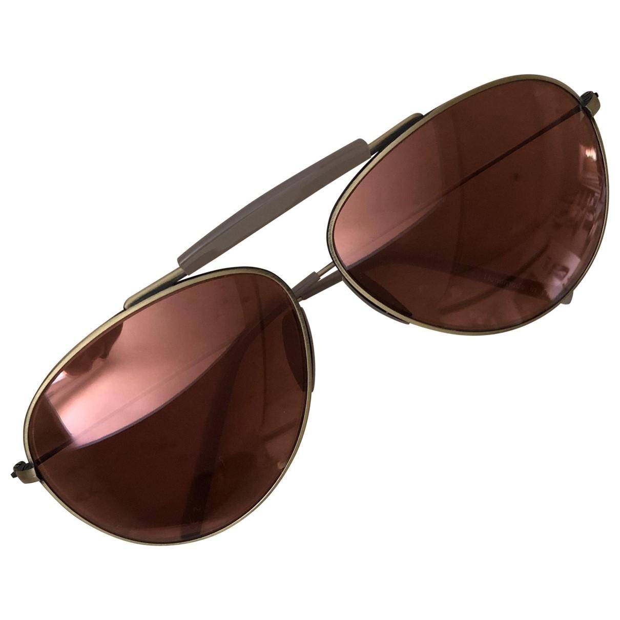 Acne Studios \N Brown Metal Sunglasses for Women \N