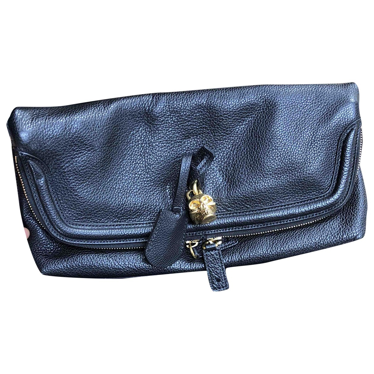 Alexander Mcqueen \N Black Leather Clutch bag for Women \N