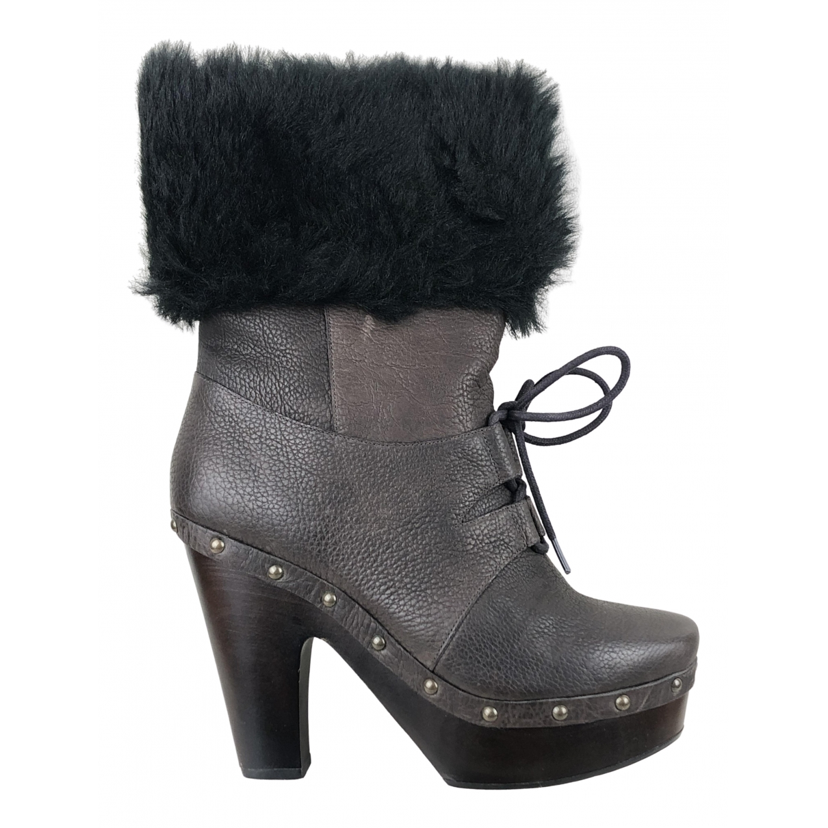 Kenzo \N Brown Leather Ankle boots for Women 40 EU