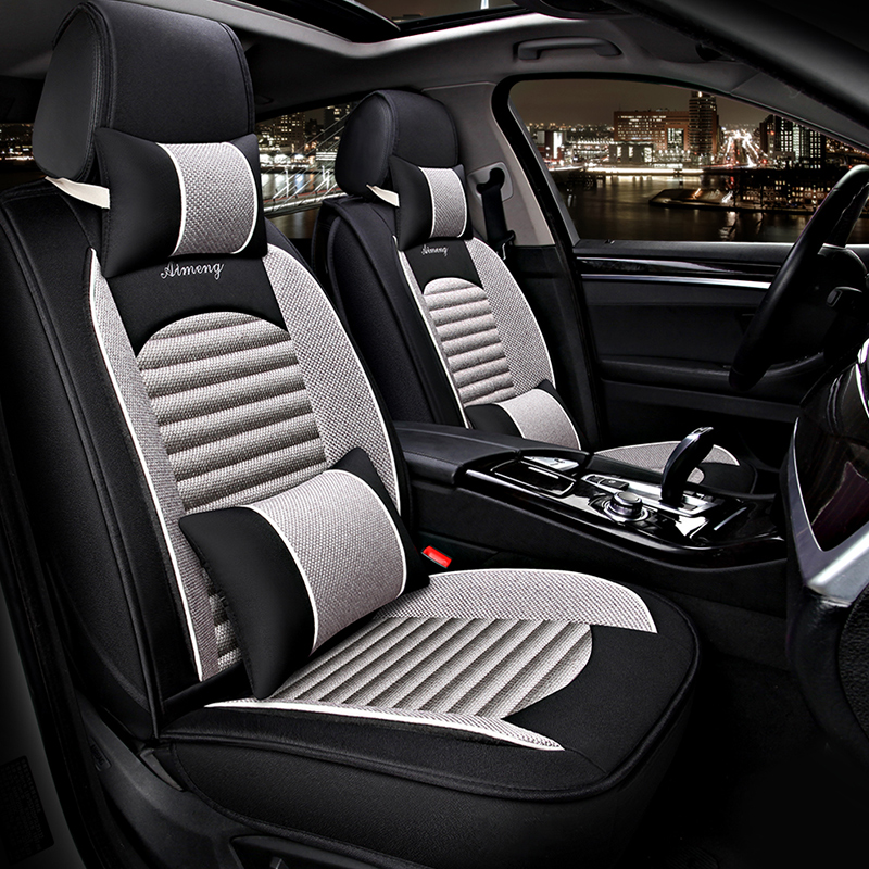 Soft And Comfortable Casual Design Color-blocking Universal Car Seat Covers
