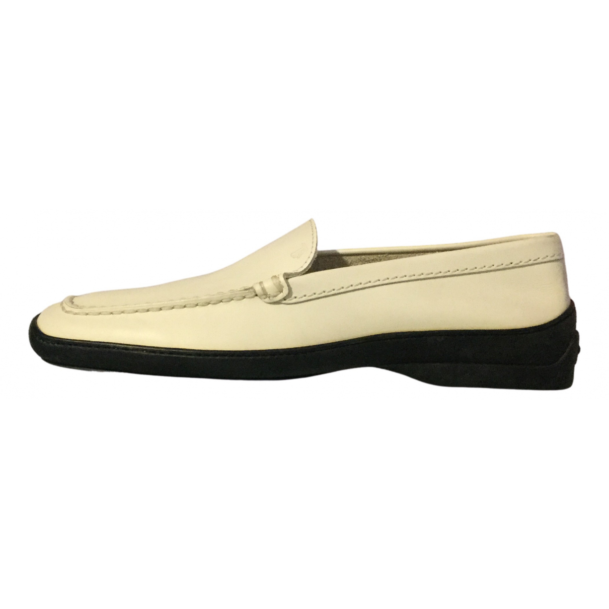 Tod's \N White Leather Flats for Women 40 IT