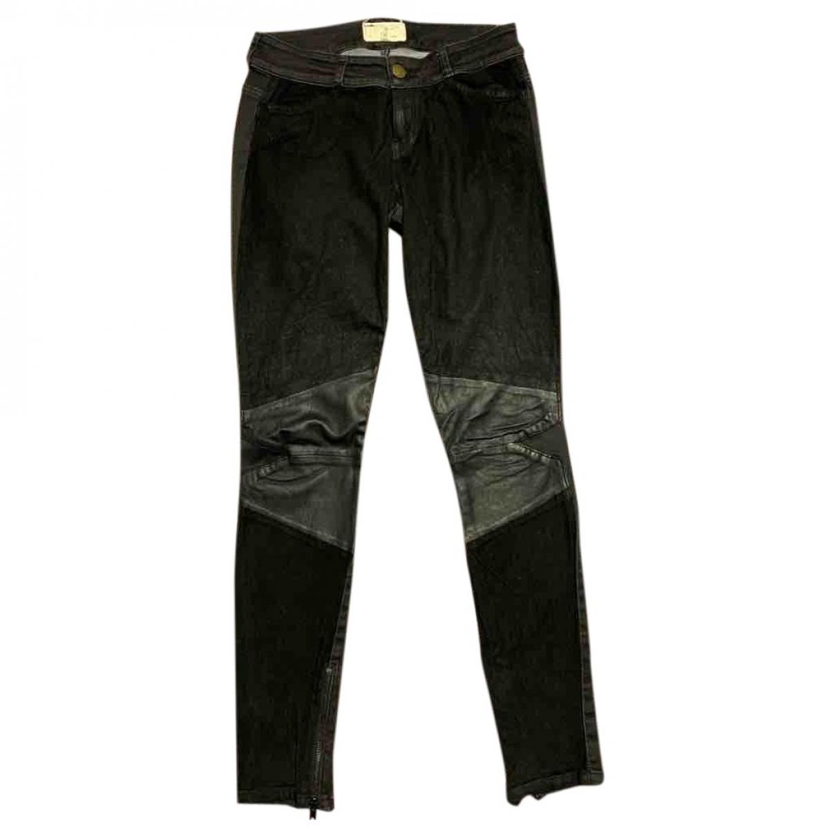 Current Elliott \N Black Cotton - elasthane Jeans for Women 28 US
