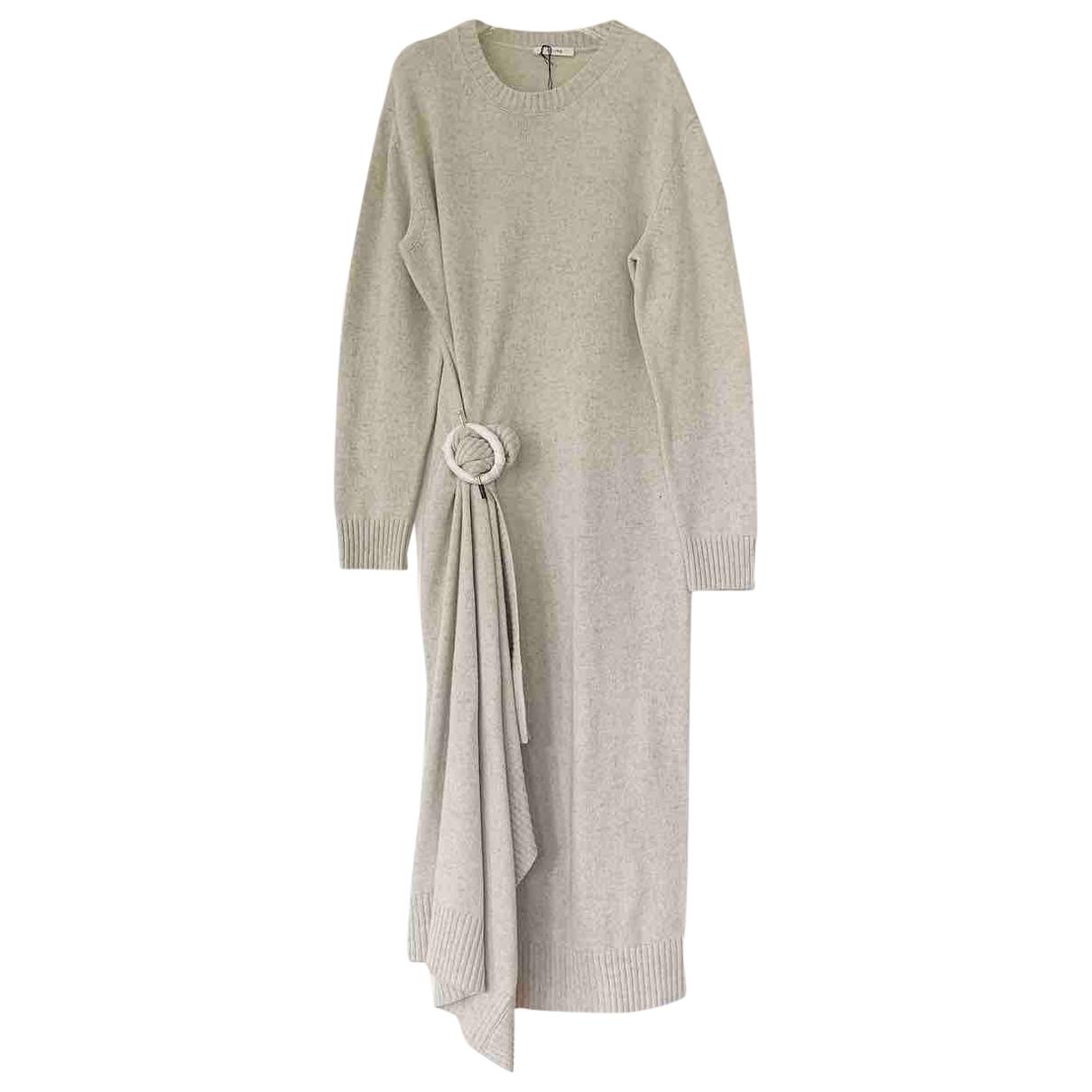 Celine \N Beige Wool dress for Women M International